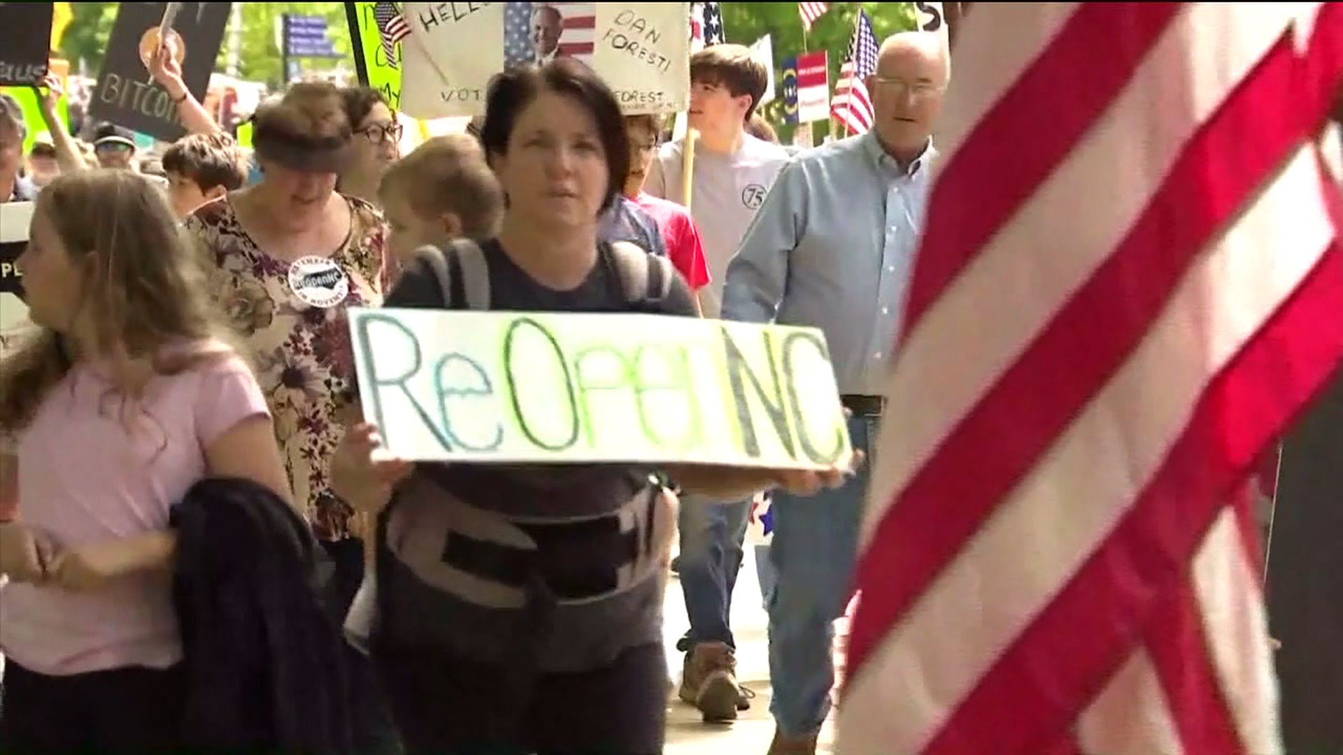 Triad business owners join thousands in march for ReOpenNC