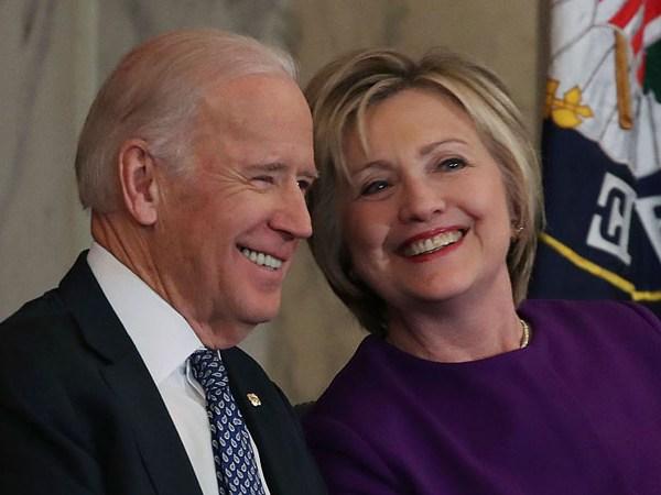 Joe Biden and Hillary Clinton (Photo by Mark Wilson/Getty Images)