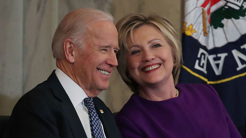 Joe Biden and Hillary Clinton (Photo by Mark Wilson/Getty Images)