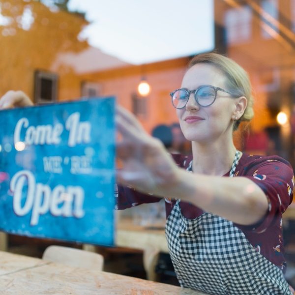 Stock image of restaurant opening. (Getty Images)