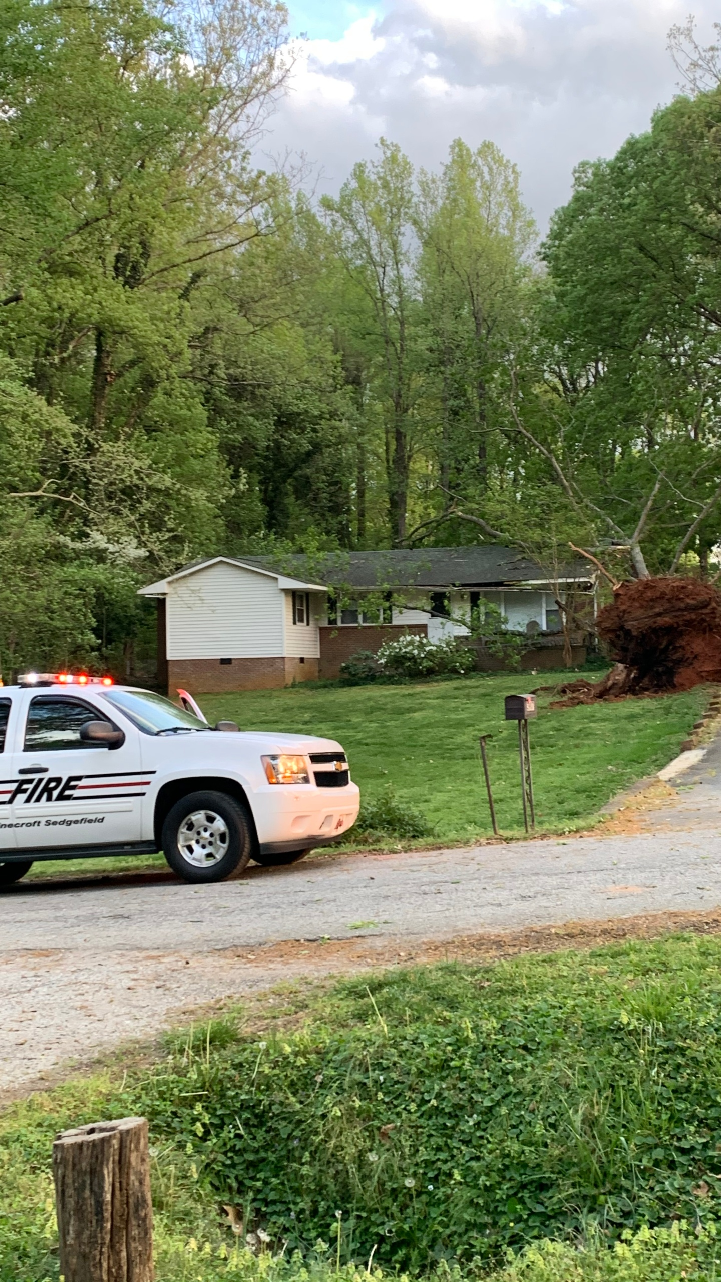 Storm damage on Sedgegrove Road in Guilford County (Submitted)