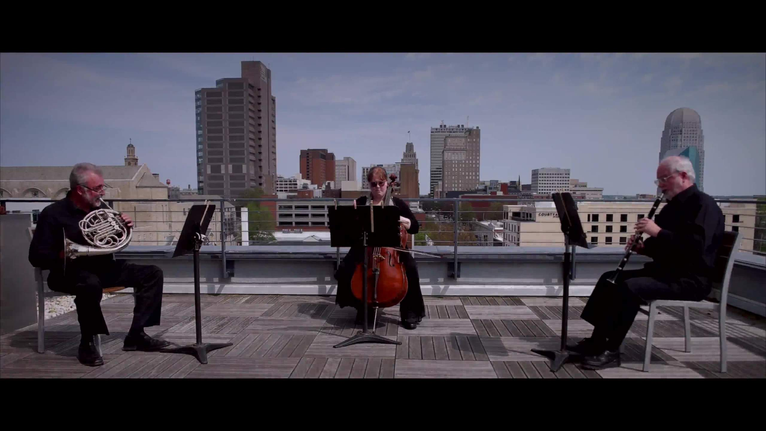 Members of Winston-Salem Symphony play 'Rainbow Over Winston'
