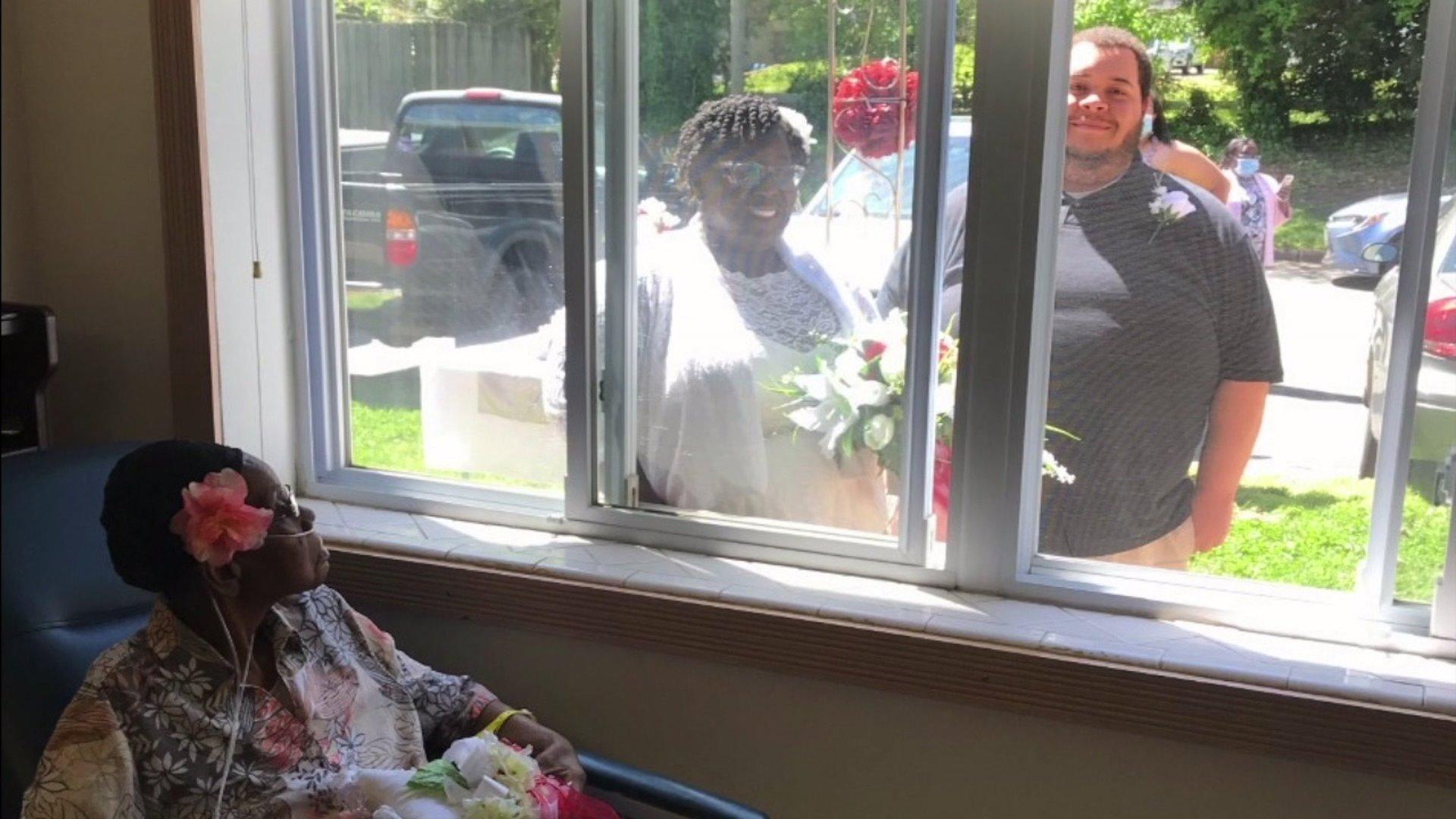 Mother participates in daughter's wedding through Reidsville nursing home window