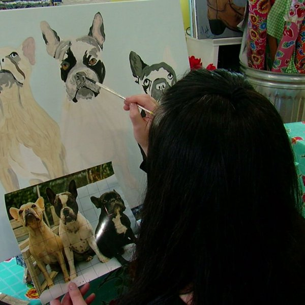 Asheboro woman known for painting classes puts together kits to continue teaching