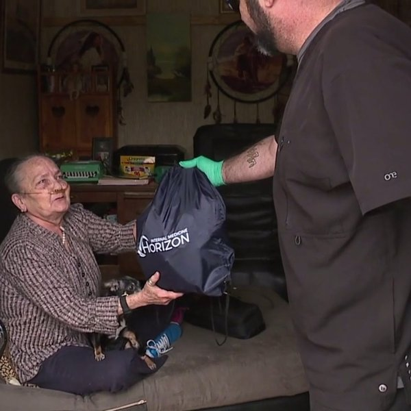 Doctor's office making home visits to bring food, hope to patients in the Triad