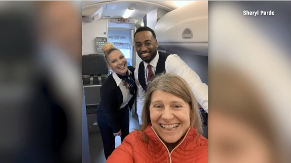 Woman who is only passenger on plane gets bumped up to first class