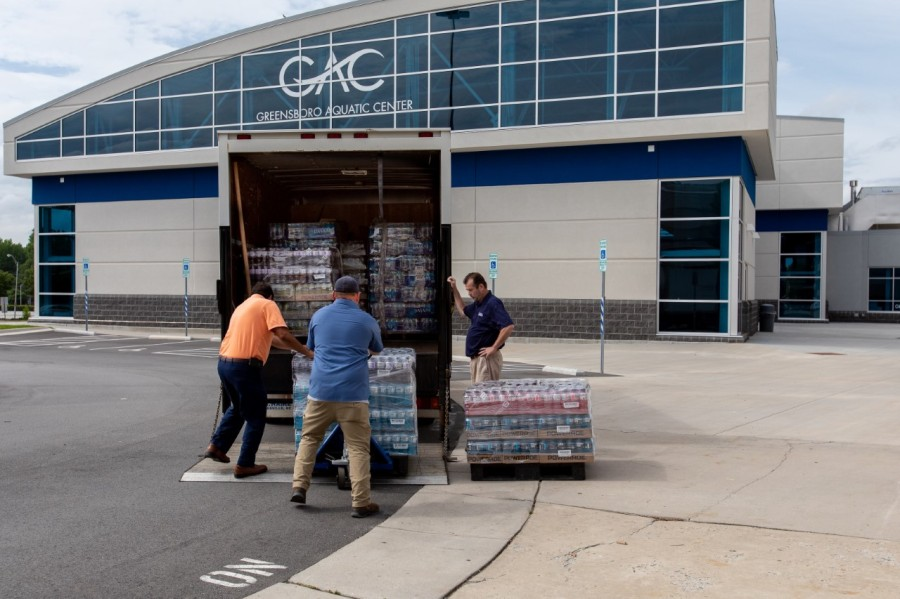 NCAA donates over 7,000 drinks to Guilford County Schools (Credit: Ivan Cutler)
