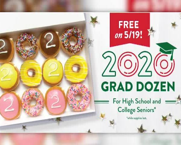 Krispy Kreme selling graduation donuts, offering free dozen to each senior