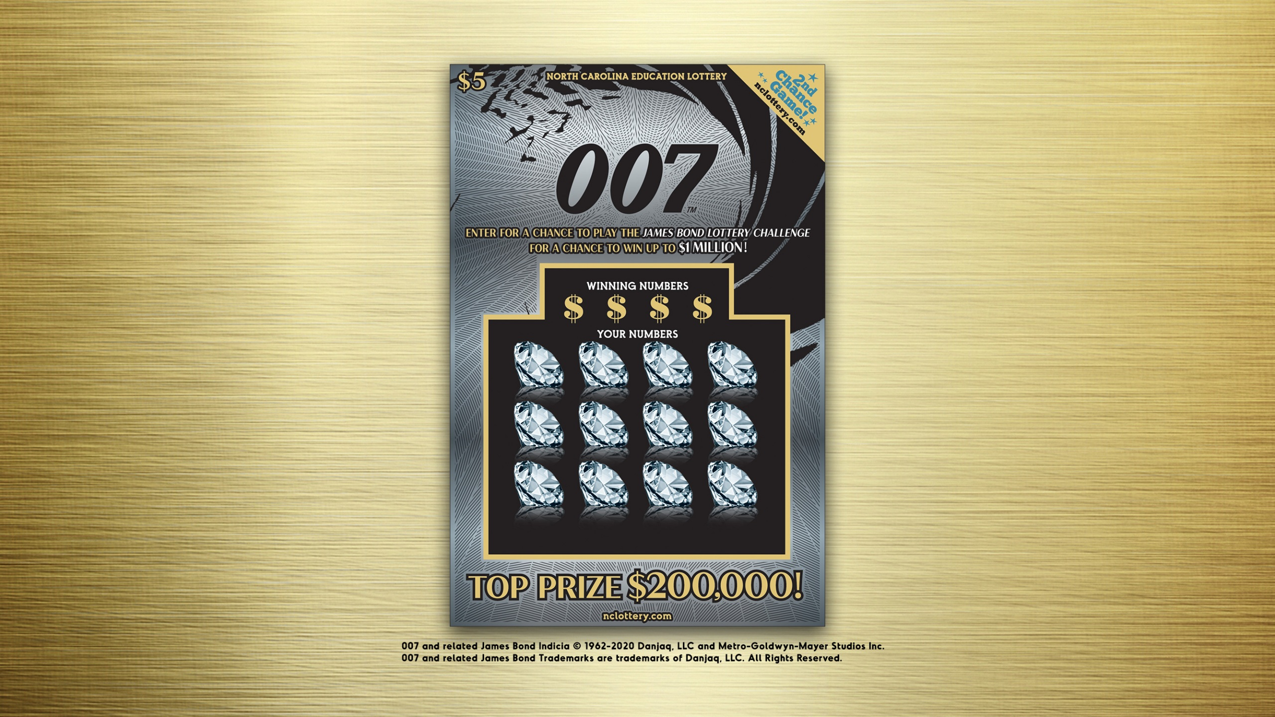 James Bond 007 lottery ticket