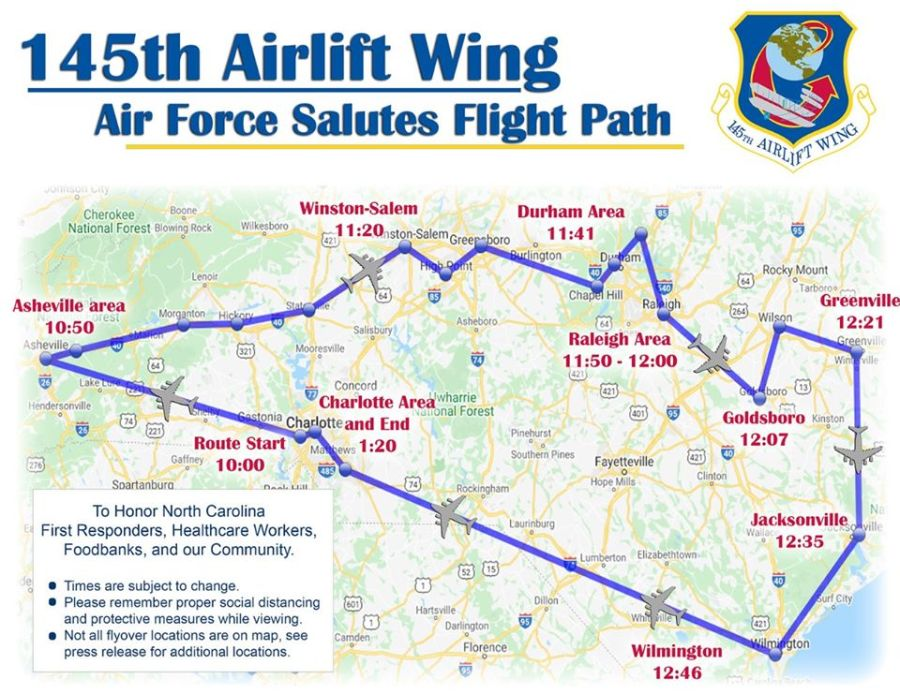 NC Air National Guard to flyover North Carolina in honor of workers on the frontline during pandemic