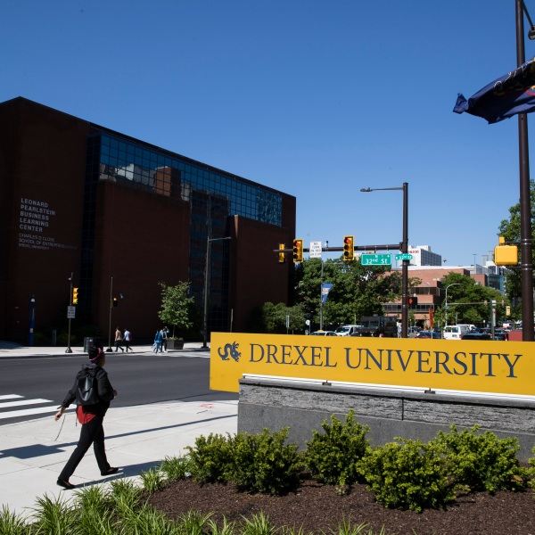 FILE - In this May 15, 2019, file photo Drexel University in Philadelphia. Students at more than 25 universities are filing lawsuits demanding tuition refunds from their schools after finding that the online classes they are being offered do not match up to the classroom experience. Grainger Rickenbaker, a freshman who filed a class action lawsuit against Drexel University in Philadelphia, said the online classes he's been taking are poor substitutes for classroom learning. (AP Photo/Matt Rourke, File)
