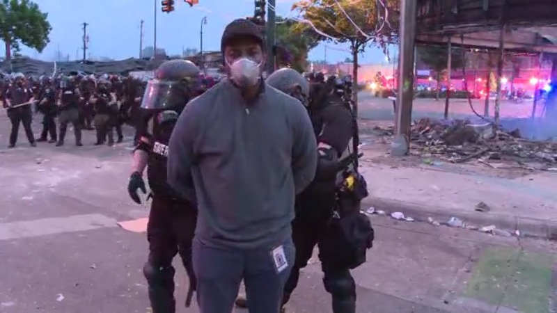 Video shows CNN crew being arrested while covering Minneapolis protests