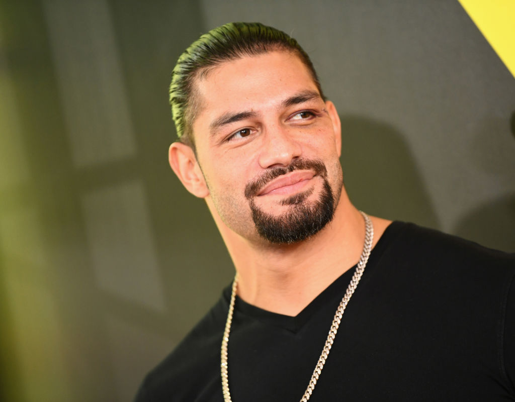 SANTA MONICA, CA - JULY 19: Wrestler Roman Reigns attends the Nickelodeon Kids' Choice Sports 2018 at Barker Hangar on July 19, 2018 in Santa Monica, California. (Photo by Emma McIntyre/Getty Images)