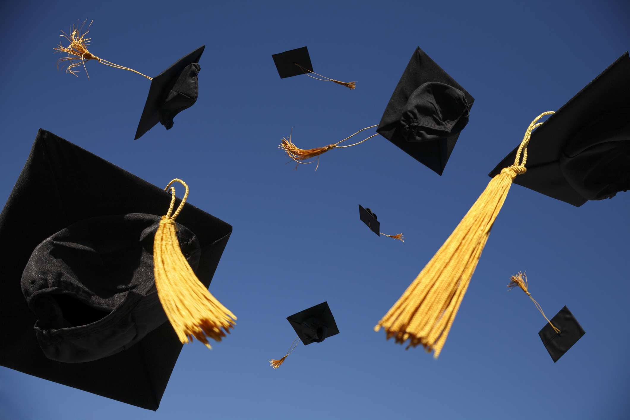 Graduation caps stock image (Getty Images)