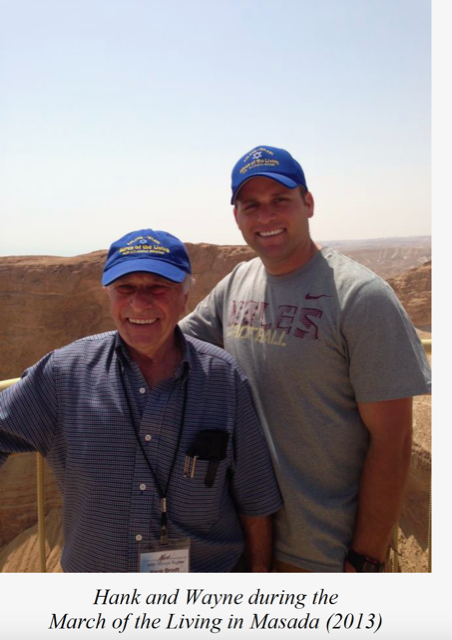 Hank and Wayne during the March of the Living in Masada in 2013 (credit: Hank Brodt Holocaust Memoirs. A Candle and a Promise/Amsterdam Publishers, 2016)