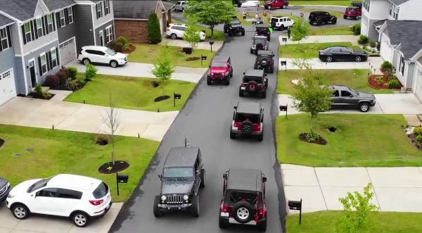 8-year-old NC boy with autism gets surprise Jeep parade for his birthday