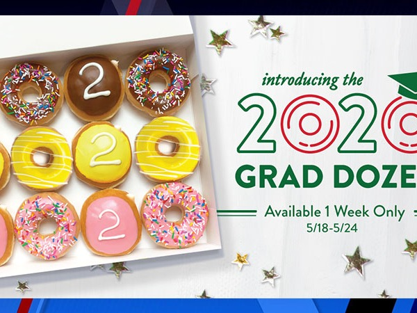 Class of 2020 graduates can get a free dozen doughnuts at Krispy Kreme