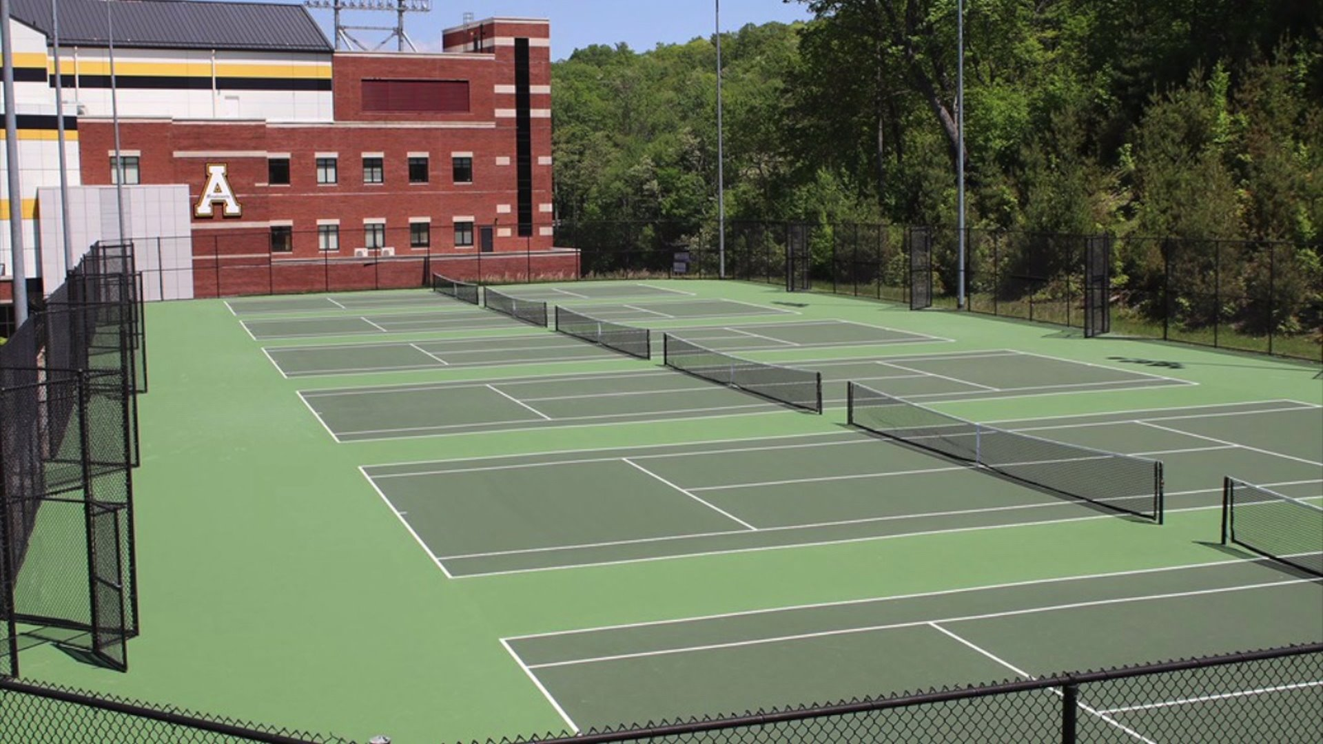 Appalachian State tennis courts (WGHP file photo)