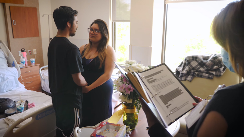 North Carolina hospital chaplain officiates wedding after couple delivers son (UNC)
