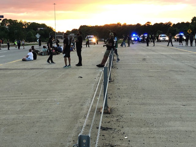 Interstate 40 eastbound and westbound in Guilford County is closed in both directions (Nelson Kepley/WGHP)