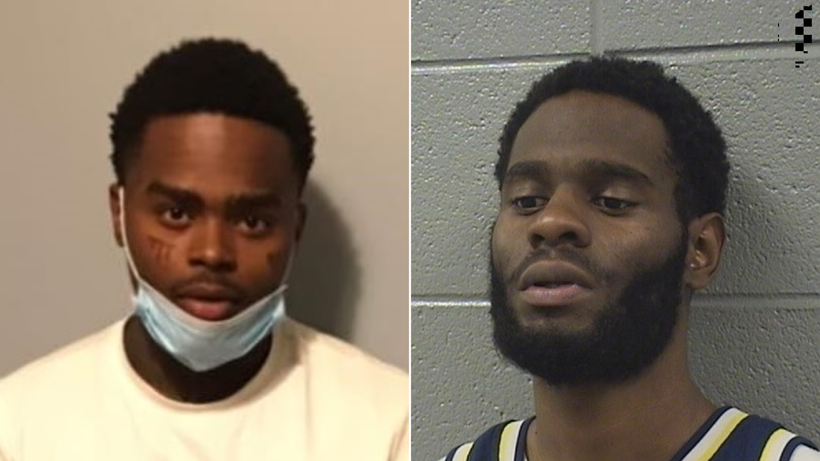 """Quintin Henderson (left), 28, was set to be released from the Cook County jail on May 2 """"for a narcotics charge when he provided his personal information to Jahquez Scott (right) for a promise of $1,000,' the sheriff's office said in a statement."""