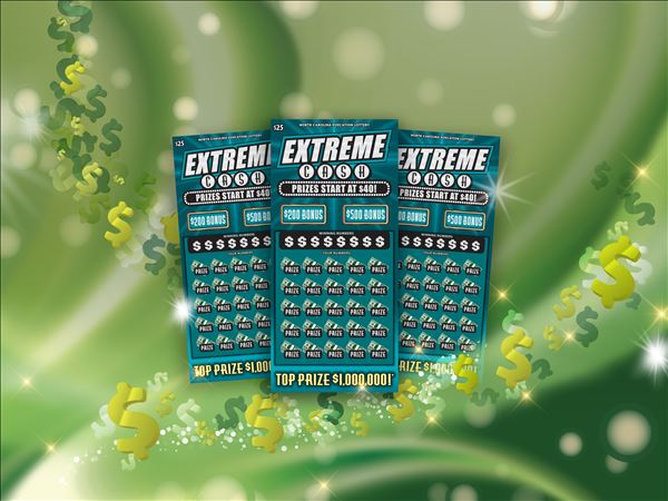 $25 Extreme Cash scratch-off ticket (NC Education Lottery)