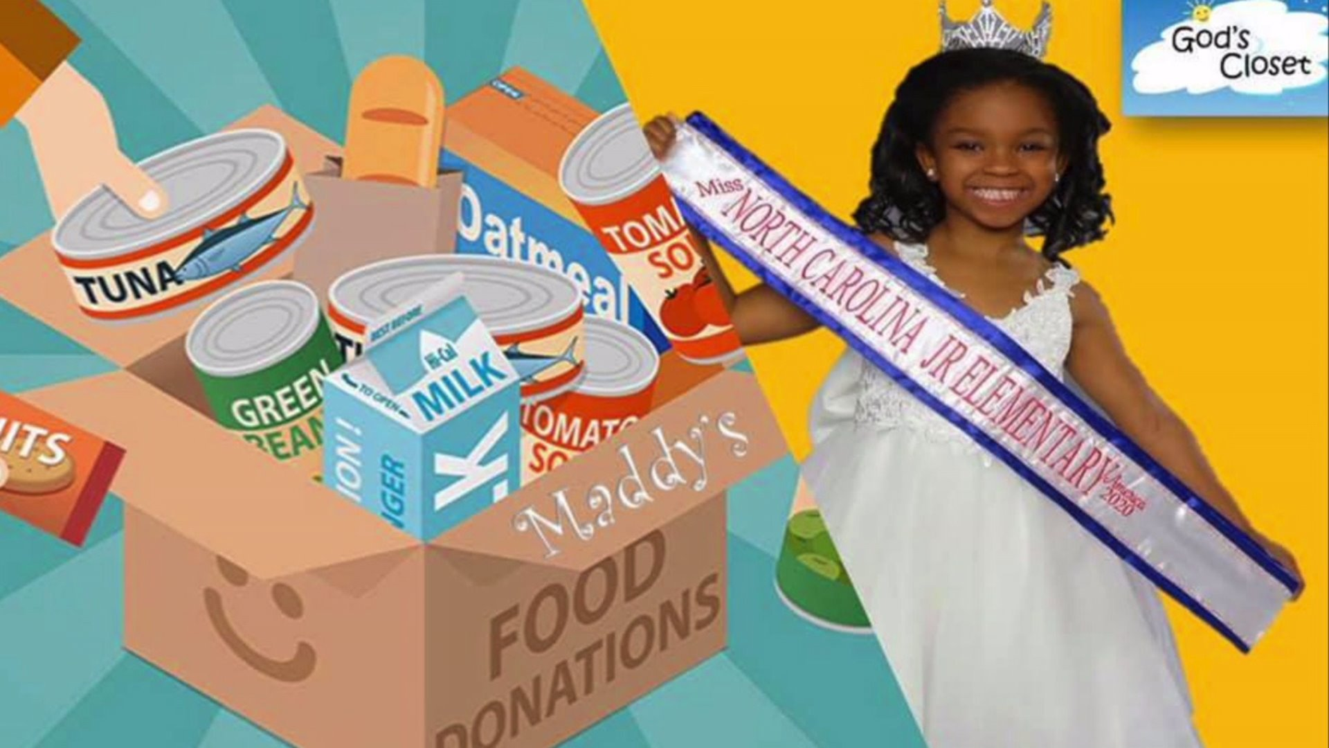 Local 6-year-old collects donations for food drive helping families in need
