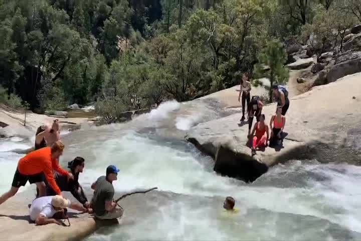 Hiker trapped in whirlpool rescued by off-duty officer using cord from his backpack