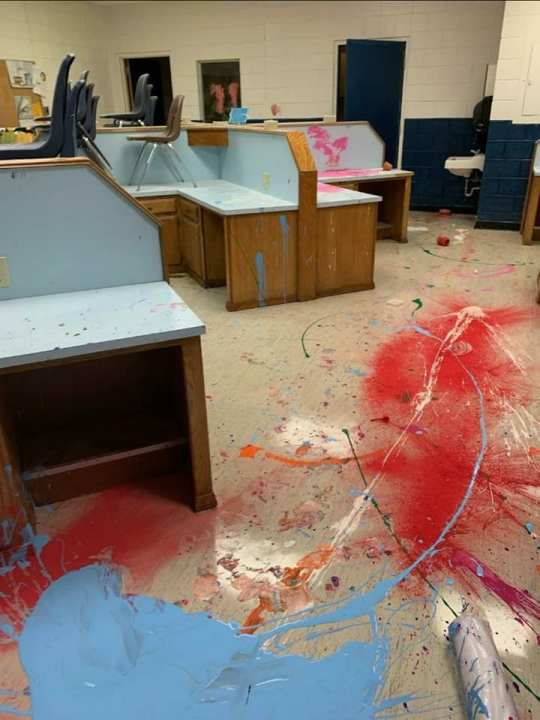 Children, ages 6, 8, 12, arrested after allegedly breaking into school, leaving trail of destruction. (Altus Police Department)