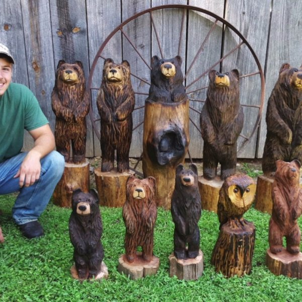 Seagrove man creates incredible works of art with chainsaw