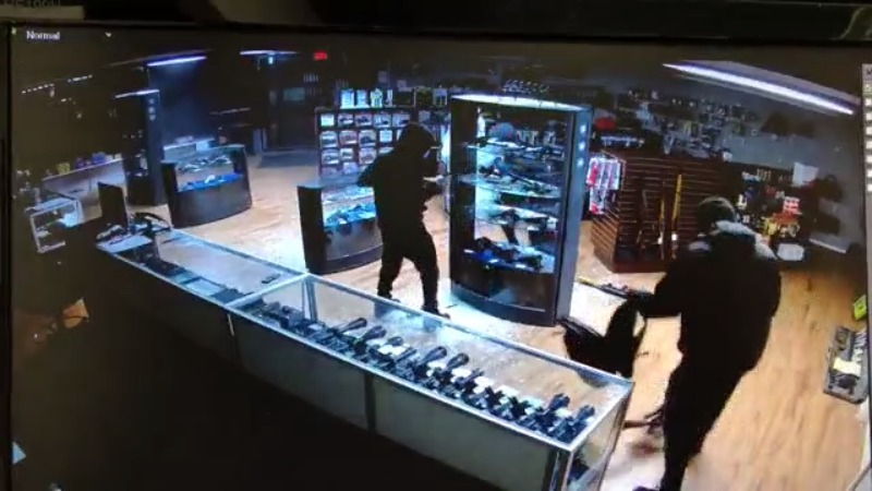 Video shows thieves stealing 14 guns from Stokesdale gun shop