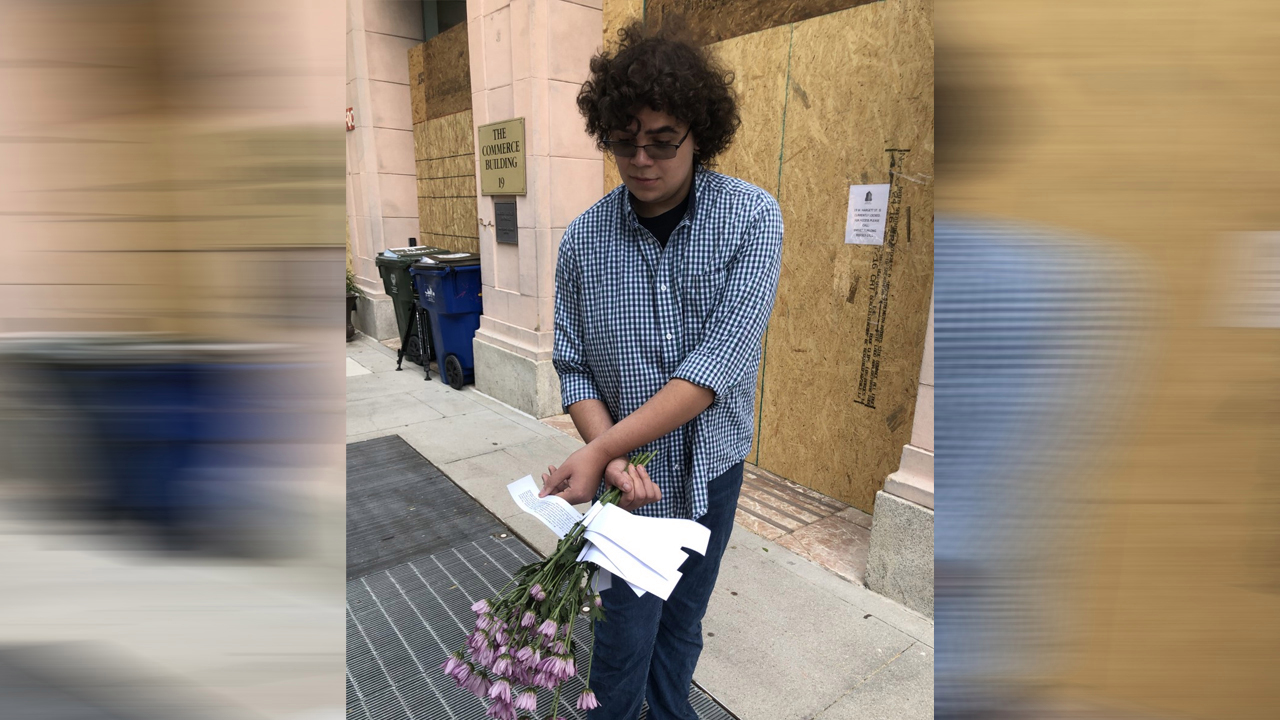 NC teen launches 'Flowers for Floyd' to spread positivity