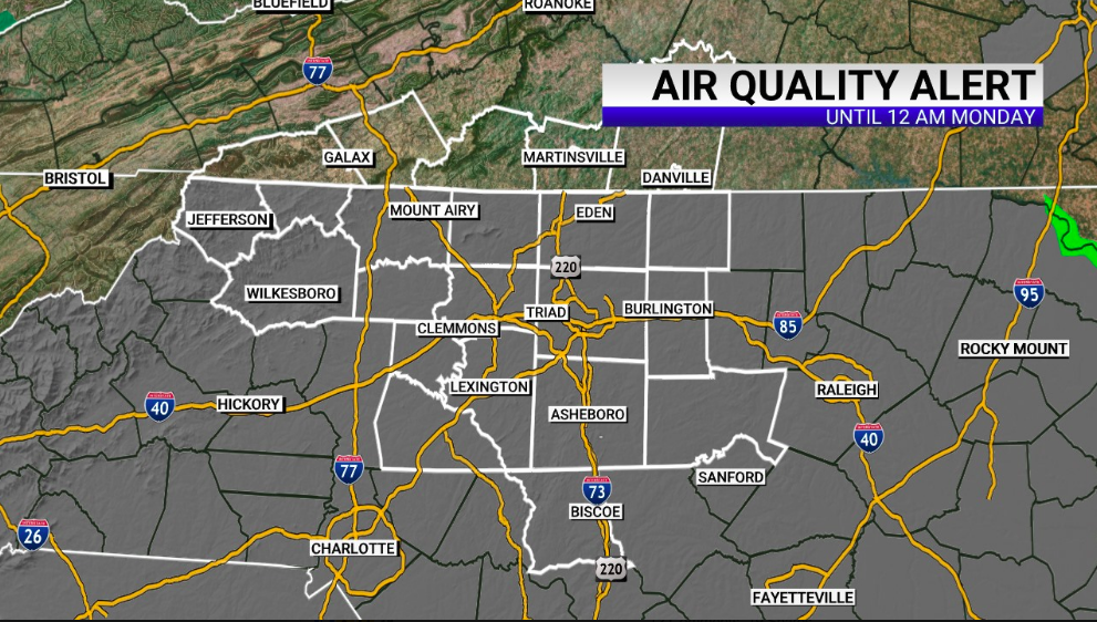 The Code Orange air quality alert has expanded