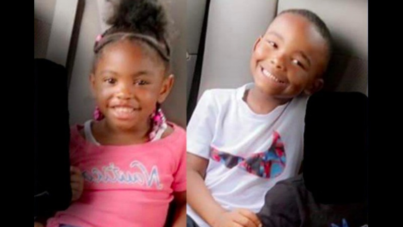 The Seneca Police Department is asking for help finding Ryleigh, 3, (L) and Bryson, 6, (R) Skinner who were last seen with their aunt, Alexus Skinner.