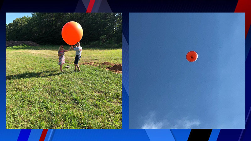 Rural Hall launches balloon 250 feet in the air in preparation for town's first Independence Day fireworks show (Town of Rural Hall)