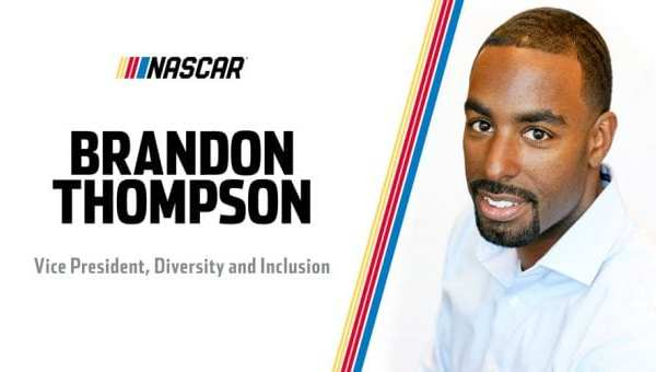 Brandon Thompson, NASCAR's new vice president of diversity and inclusion