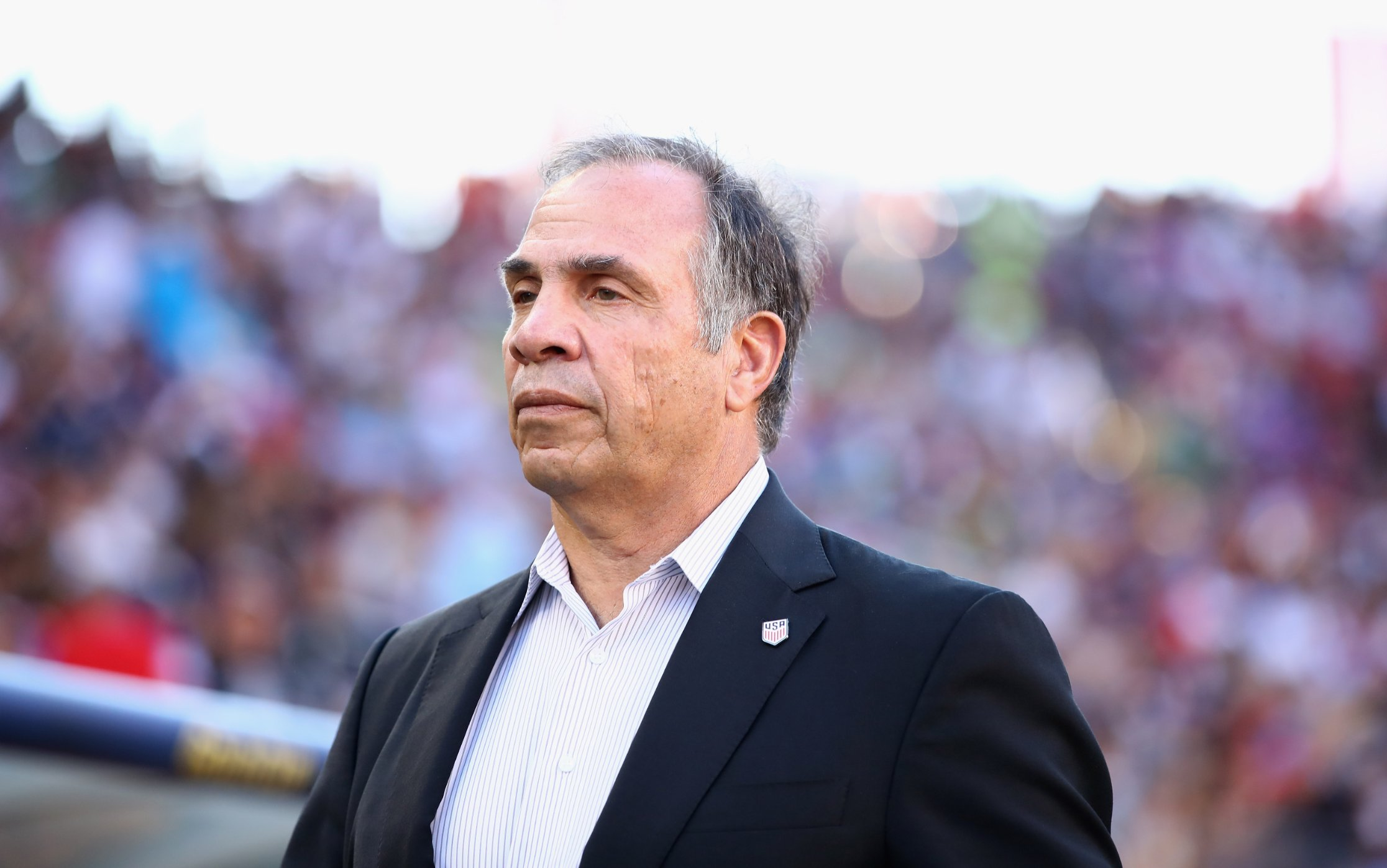 """Former US national men's soccer team coach Bruce Arena has questioned whether the """"The Star-Spangled Banner"""" -- the American national anthem -- should be played at professional sporting events in the States."""