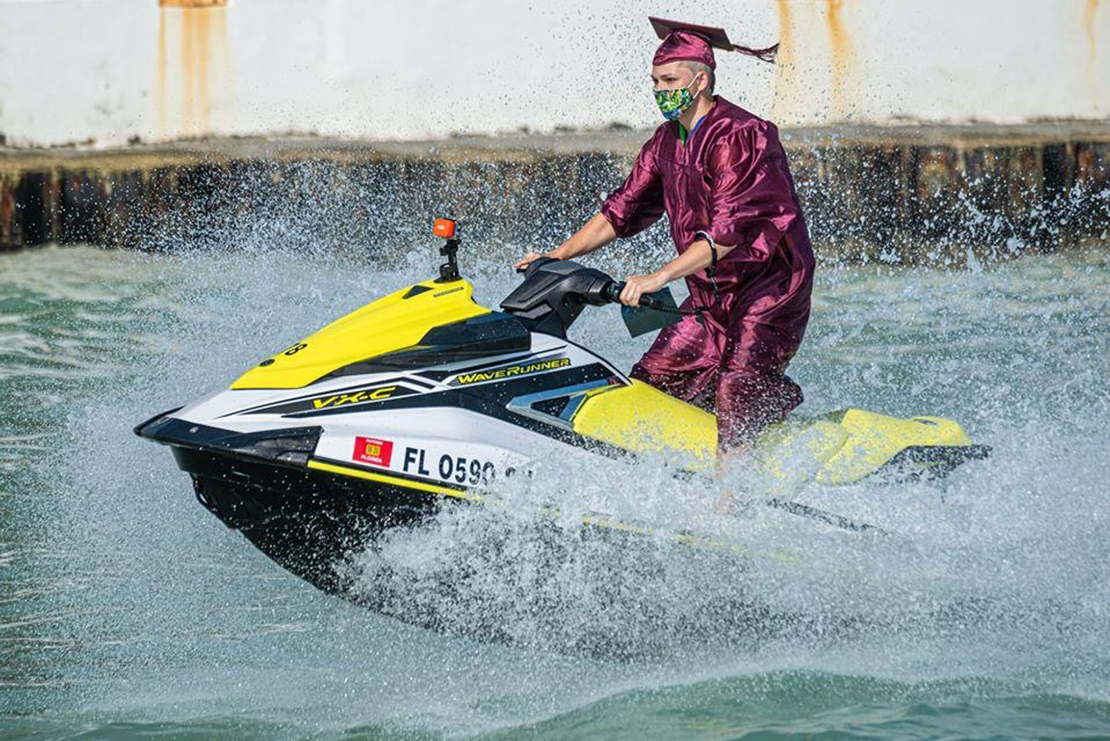 Florida charter school holds graduation ceremony on jet skis