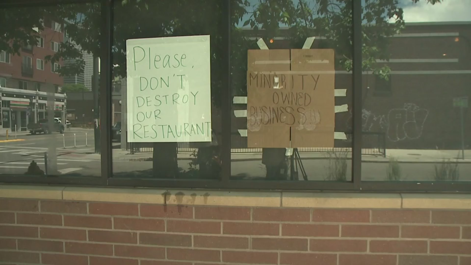 'Please don't destroy our restaurant': Minority business owner pleads with Denver rioters