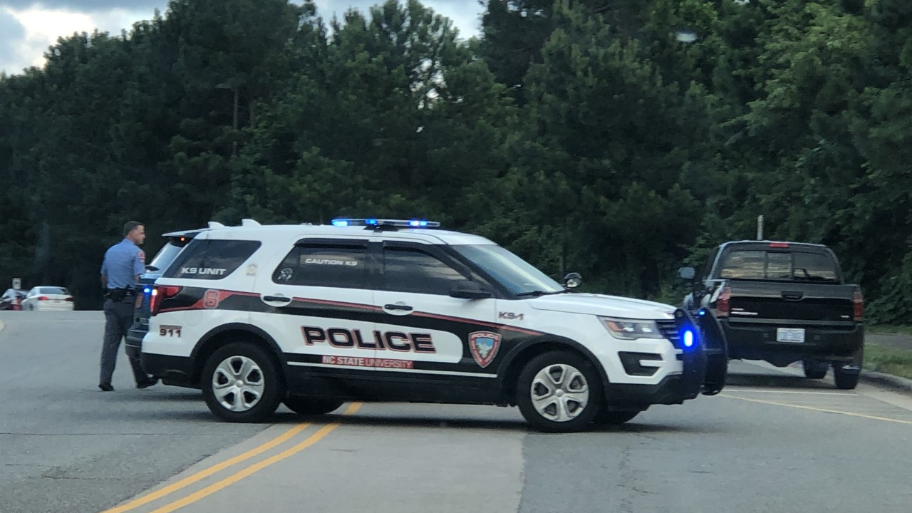 Scene of a June 10, 2020 shooting on North Carolina State University's campus. (WNCN)