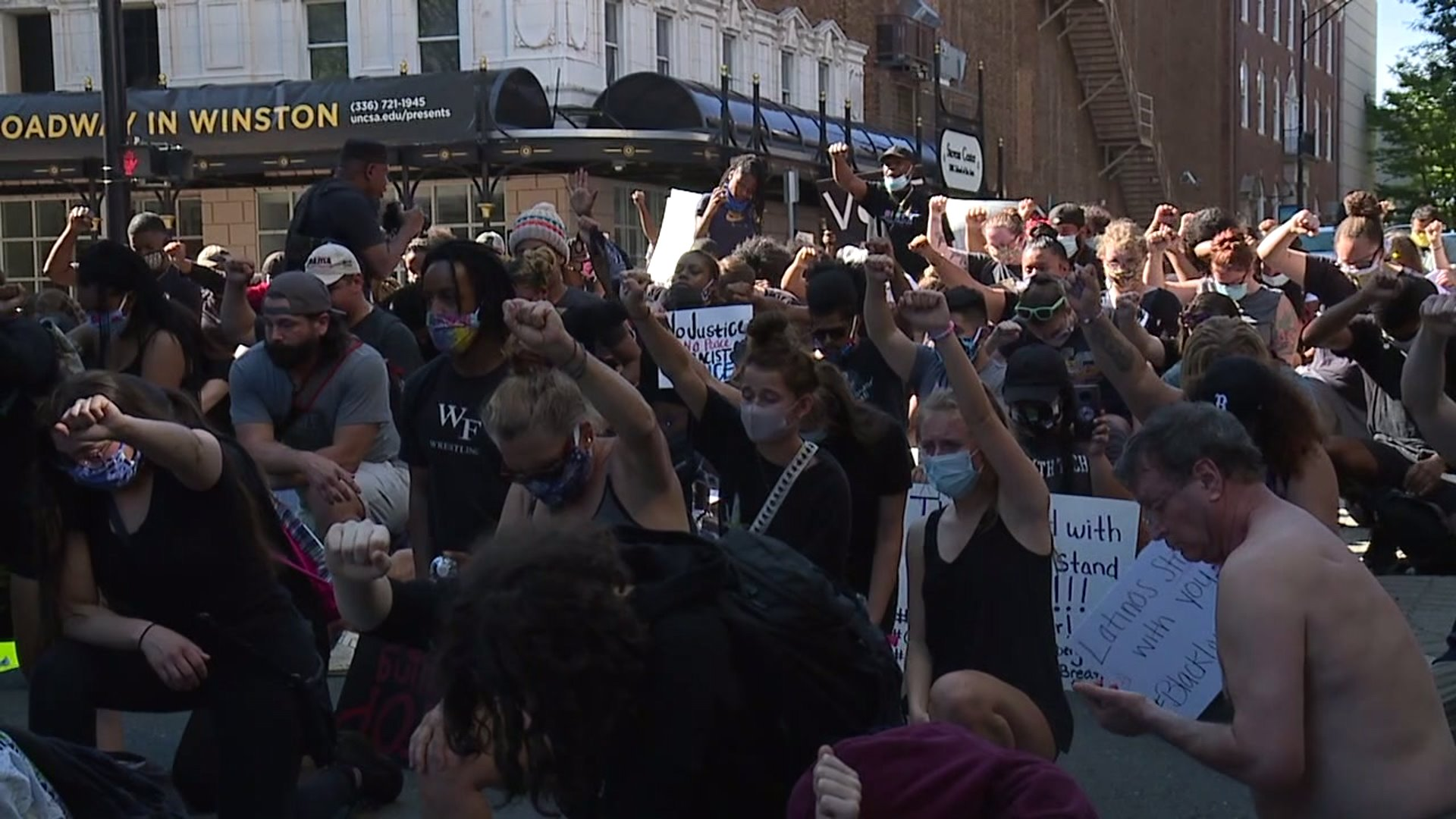 'No justice, no peace': Protestors from all across Winston-Salem demonstrate together