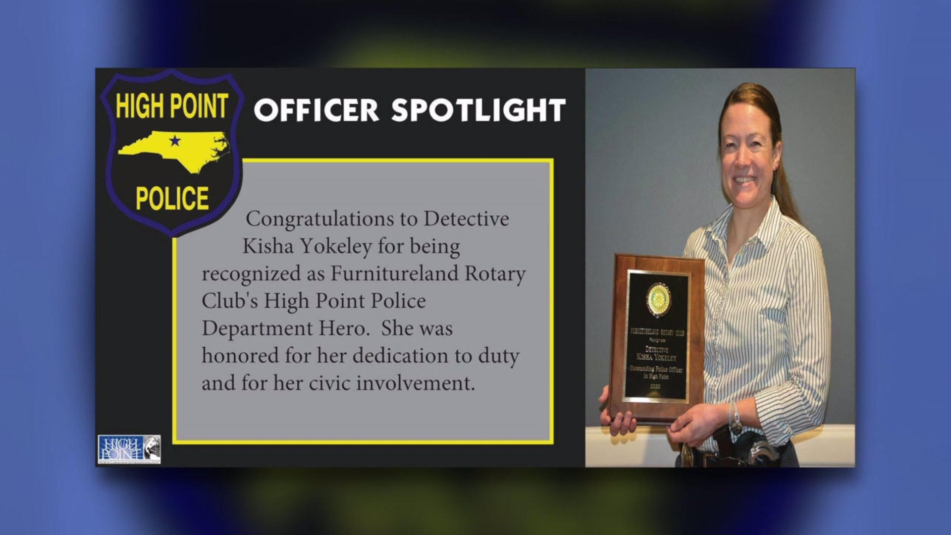 High Point detective who gives back to the community honored as a hero