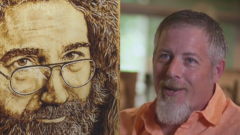 Davidson County man does incredible wood-burning art
