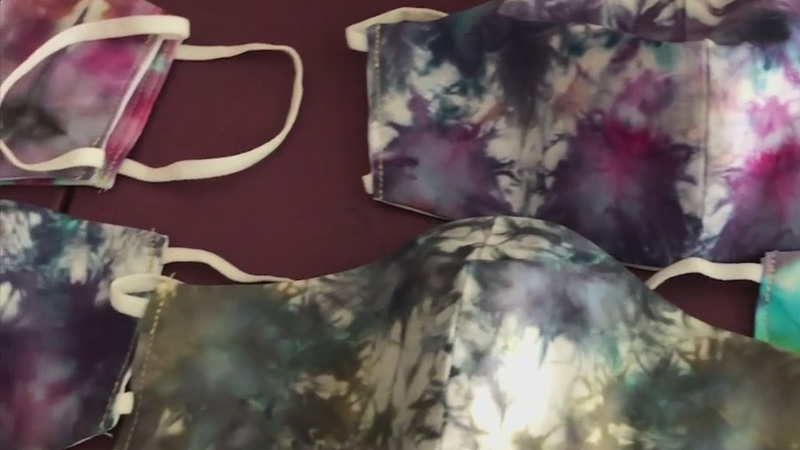 Randolph County tie-dye artist's face masks in high demand