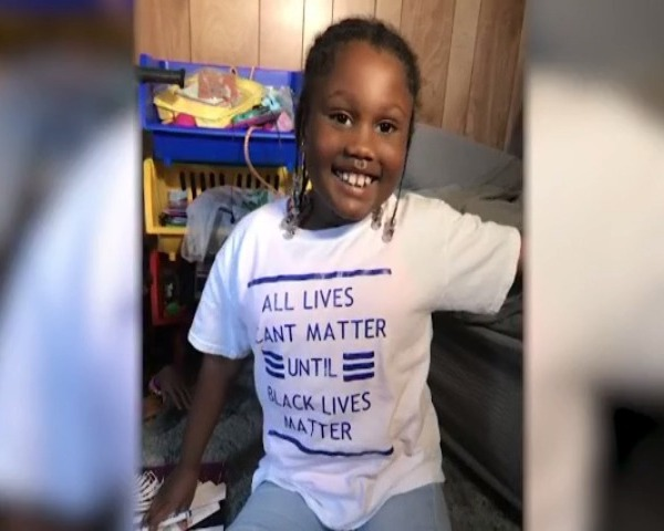 Mother says her six-year-old was kicked out of daycare for wearing a 'Black Lives Matter' T-shirt