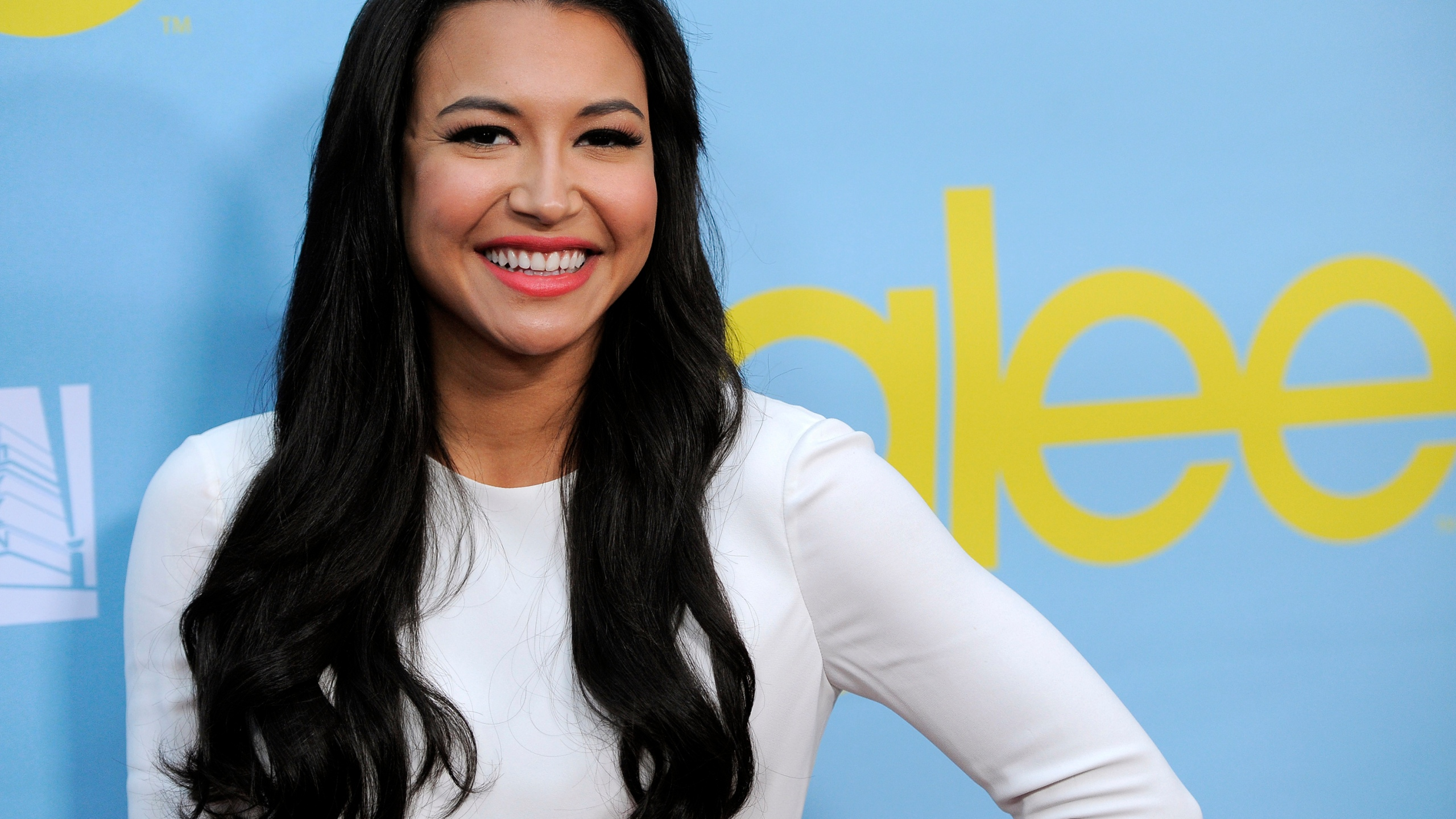 "FILE - Naya Rivera, a cast member in the television series ""Glee,"" poses at a screening and Q&A for the show, at the Academy of Television Arts and Sciences in Los Angeles on May 1, 2012. Authorities say a body has been found at a Southern California lake during the search for ""Glee"" star Naya Rivera. The Ventura County Sheriff's Office says in a tweet that the body was found Monday morning, July 13, 2020, in the search of Lake Piru for Rivera, five days after her 4-year-old son was found alone in a boat the two had rented. (AP Photo/Chris Pizzello, File)"