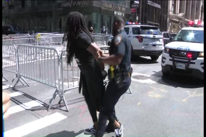 'Refund the police!': BLM mural outside Trump Tower vandalized for 3rd time