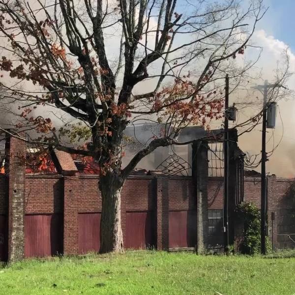 Thomasville fire crews working to put out warehouse fire