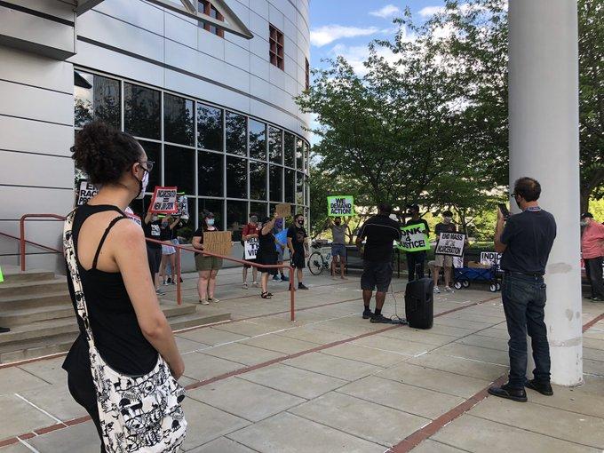 Protest in Winston-Salem on July 8, 2020 (Danielle Jackson/WGHP)