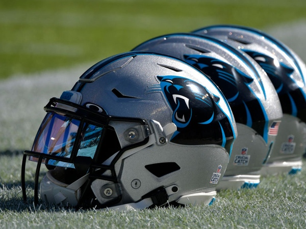 Carolina Panthers helmets (Photo by Grant Halverson/Getty Images, File)
